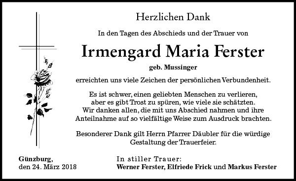 Irmengard Maria Ferster
