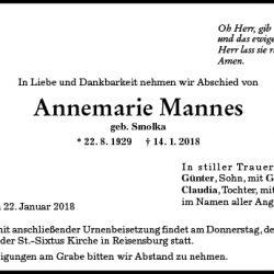 Annemarie Mannes