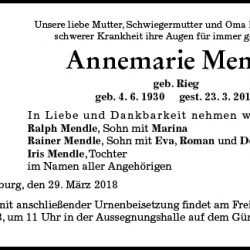 Annemarie Mendle