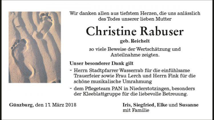 Christine Rabuser
