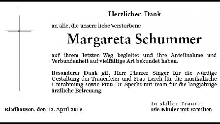 Margareta Schummer