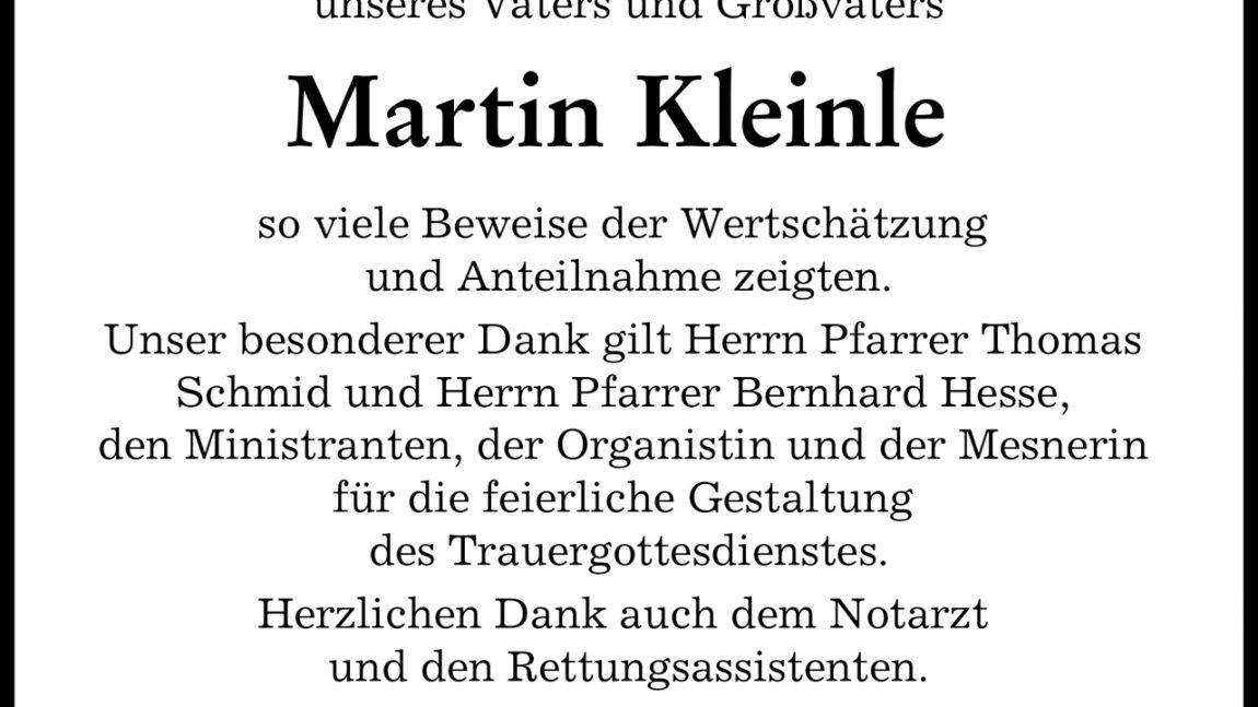 Martin Kleinle